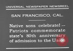 Image of anniversary of admission to Union San Francisco California USA, 1930, second 11 stock footage video 65675071706