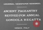Image of annual gondola regatta Venice Italy, 1930, second 2 stock footage video 65675071708