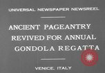 Image of annual gondola regatta Venice Italy, 1930, second 5 stock footage video 65675071708