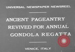 Image of annual gondola regatta Venice Italy, 1930, second 6 stock footage video 65675071708