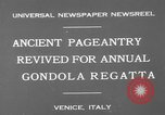 Image of annual gondola regatta Venice Italy, 1930, second 10 stock footage video 65675071708