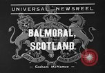 Image of King George VI Balmoral Scotland, 1939, second 1 stock footage video 65675071712