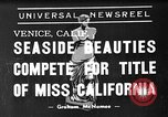 Image of beauty contest Venice Beach Los Angeles California USA, 1939, second 1 stock footage video 65675071714