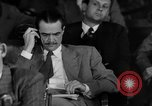 Image of Senate War Investigating Subcommittee hearings with Howard Hughes Washington DC USA, 1947, second 3 stock footage video 65675071722