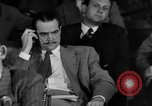 Image of Senate War Investigating Subcommittee hearings with Howard Hughes Washington DC USA, 1947, second 7 stock footage video 65675071722