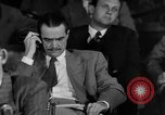 Image of Senate War Investigating Subcommittee hearings with Howard Hughes Washington DC USA, 1947, second 11 stock footage video 65675071722