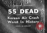 Image of Korean airplane crash Seoul South Korea, 1967, second 1 stock footage video 65675071754