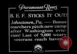 Image of Bonus army camp Johnstown Pennsylvania USA, 1936, second 1 stock footage video 65675071798