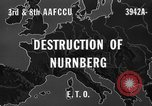 Image of bomb damage Nuremberg Germany, 1945, second 5 stock footage video 65675071920