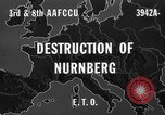 Image of bomb damage Nuremberg Germany, 1945, second 6 stock footage video 65675071920