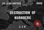 Image of bomb damage Nuremberg Germany, 1945, second 8 stock footage video 65675071920