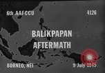 Image of damaged airfield Balikpapan Borneo Indonesia, 1945, second 4 stock footage video 65675071923