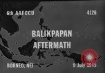 Image of damaged airfield Balikpapan Borneo Indonesia, 1945, second 5 stock footage video 65675071923