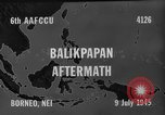 Image of damaged airfield Balikpapan Borneo Indonesia, 1945, second 8 stock footage video 65675071923