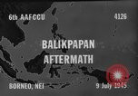 Image of damaged airfield Balikpapan Borneo Indonesia, 1945, second 9 stock footage video 65675071923
