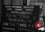 Image of war crimes trials Nuremberg Germany, 1947, second 5 stock footage video 65675071945