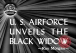 Image of Black Widow P-61 aircraft Hawthorne California USA, 1944, second 2 stock footage video 65675071975