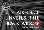 Image of Black Widow P-61 aircraft Hawthorne California USA, 1944, second 6 stock footage video 65675071975