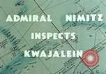 Image of Admiral Chester Nimitz Kwajalein Island Marshall Islands, 1944, second 7 stock footage video 65675072045