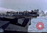 Image of USS Ommaney Bay CVE-79 on fire Luzon Island Philippines, 1945, second 10 stock footage video 65675072052