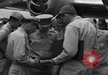 Image of review of mission Saipan Northern Mariana Islands, 1945, second 2 stock footage video 65675072101