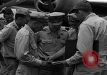 Image of review of mission Saipan Northern Mariana Islands, 1945, second 10 stock footage video 65675072101
