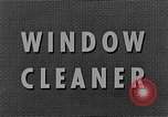 Image of window cleaner New York United States USA, 1945, second 9 stock footage video 65675072164
