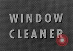 Image of window cleaner New York United States USA, 1945, second 12 stock footage video 65675072164