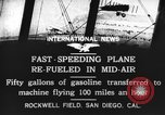 Image of mid-air refueling San Diego California USA, 1923, second 2 stock footage video 65675072184