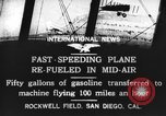 Image of mid-air refueling San Diego California USA, 1923, second 4 stock footage video 65675072184