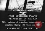 Image of mid-air refueling San Diego California USA, 1923, second 7 stock footage video 65675072184