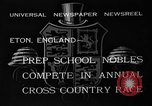 Image of Annual Cross Country Race Eton England, 1933, second 10 stock footage video 65675072246