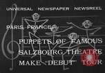 Image of puppets Paris France, 1933, second 2 stock footage video 65675072247