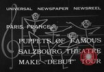 Image of puppets Paris France, 1933, second 3 stock footage video 65675072247