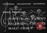 Image of puppets Paris France, 1933, second 4 stock footage video 65675072247