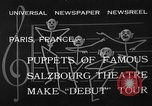Image of puppets Paris France, 1933, second 5 stock footage video 65675072247