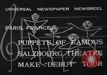 Image of puppets Paris France, 1933, second 9 stock footage video 65675072247