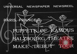 Image of puppets Paris France, 1933, second 12 stock footage video 65675072247
