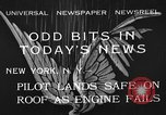 Image of landing on roof New York United States USA, 1933, second 1 stock footage video 65675072248