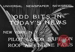 Image of landing on roof New York United States USA, 1933, second 6 stock footage video 65675072248
