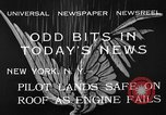 Image of landing on roof New York United States USA, 1933, second 10 stock footage video 65675072248