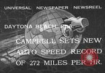 Image of Malcolm Campbell Daytona Beach Florida USA, 1933, second 1 stock footage video 65675072250