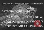 Image of Malcolm Campbell Daytona Beach Florida USA, 1933, second 2 stock footage video 65675072250