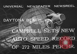 Image of Malcolm Campbell Daytona Beach Florida USA, 1933, second 3 stock footage video 65675072250