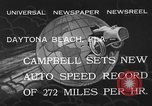Image of Malcolm Campbell Daytona Beach Florida USA, 1933, second 4 stock footage video 65675072250