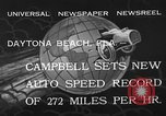 Image of Malcolm Campbell Daytona Beach Florida USA, 1933, second 10 stock footage video 65675072250