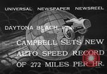 Image of Malcolm Campbell Daytona Beach Florida USA, 1933, second 12 stock footage video 65675072250