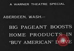Image of American products Aberdeen Washington USA, 1933, second 5 stock footage video 65675072251