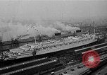 Image of luxury liner Queen Elizabeth Southampton England, 1946, second 1 stock footage video 65675072300