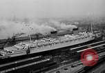 Image of luxury liner Queen Elizabeth Southampton England, 1946, second 2 stock footage video 65675072300